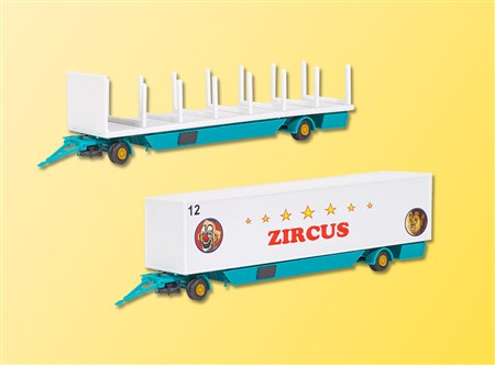 14658 Kibri Bausatz H0 Zircus Zeltstangen und Kofferanhänger