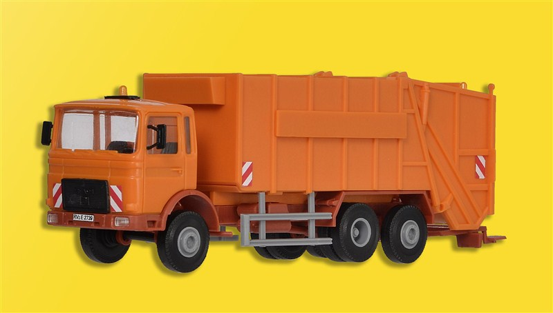 15009 Kibri H0 Bausatz MAN Pressmuellwagen orange