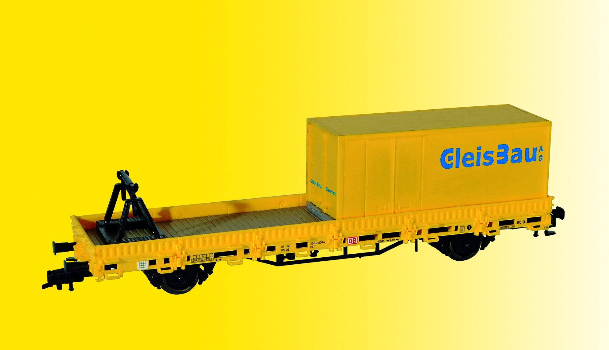 Kibri 26264  H0 Schutzwagen mit Auflage MFS 100 und Container