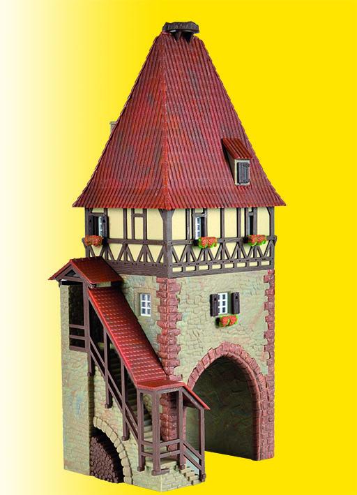 fachwerkturm kibri 38470 bausatz h0 fachwerkturm mit tor