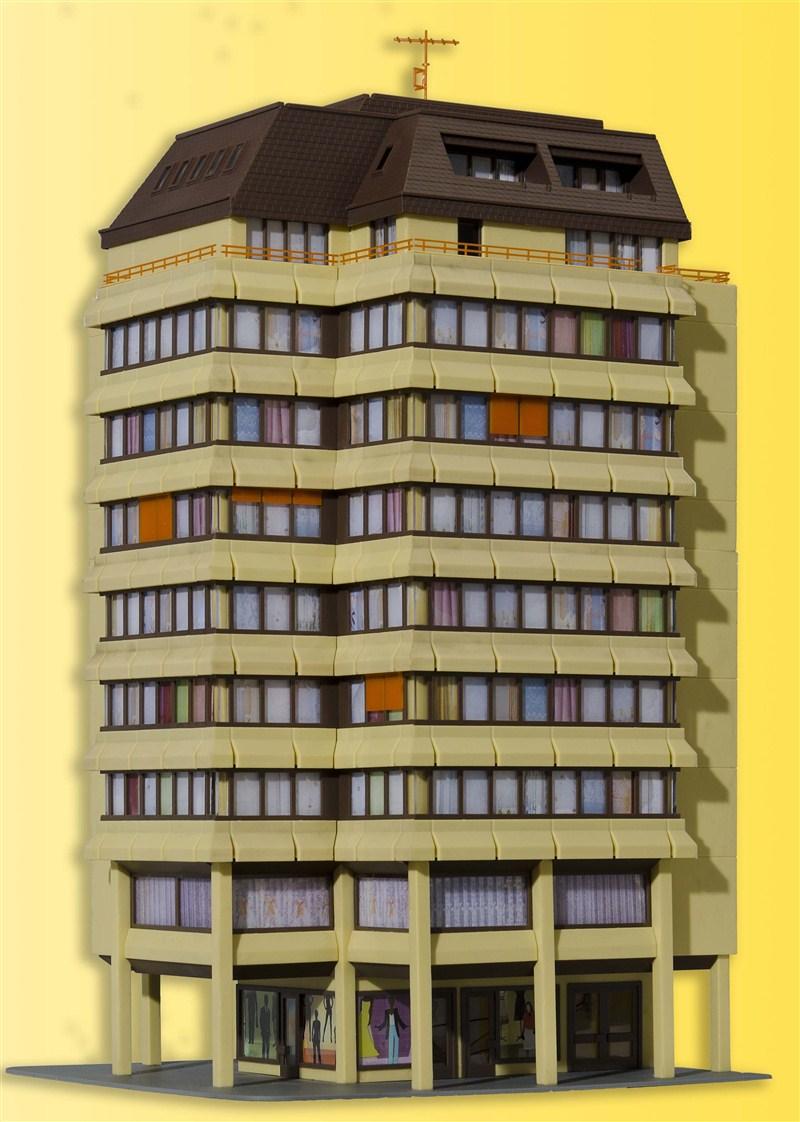 38218 Kibri Bausatz H0 Hochhaus mit Beleuchtungsstart Set