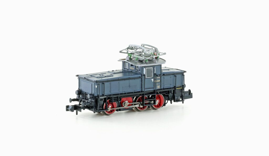 VO Hobbytrain 3050 Spur N Rangierlok E63 DRG Ep.II grau / blau