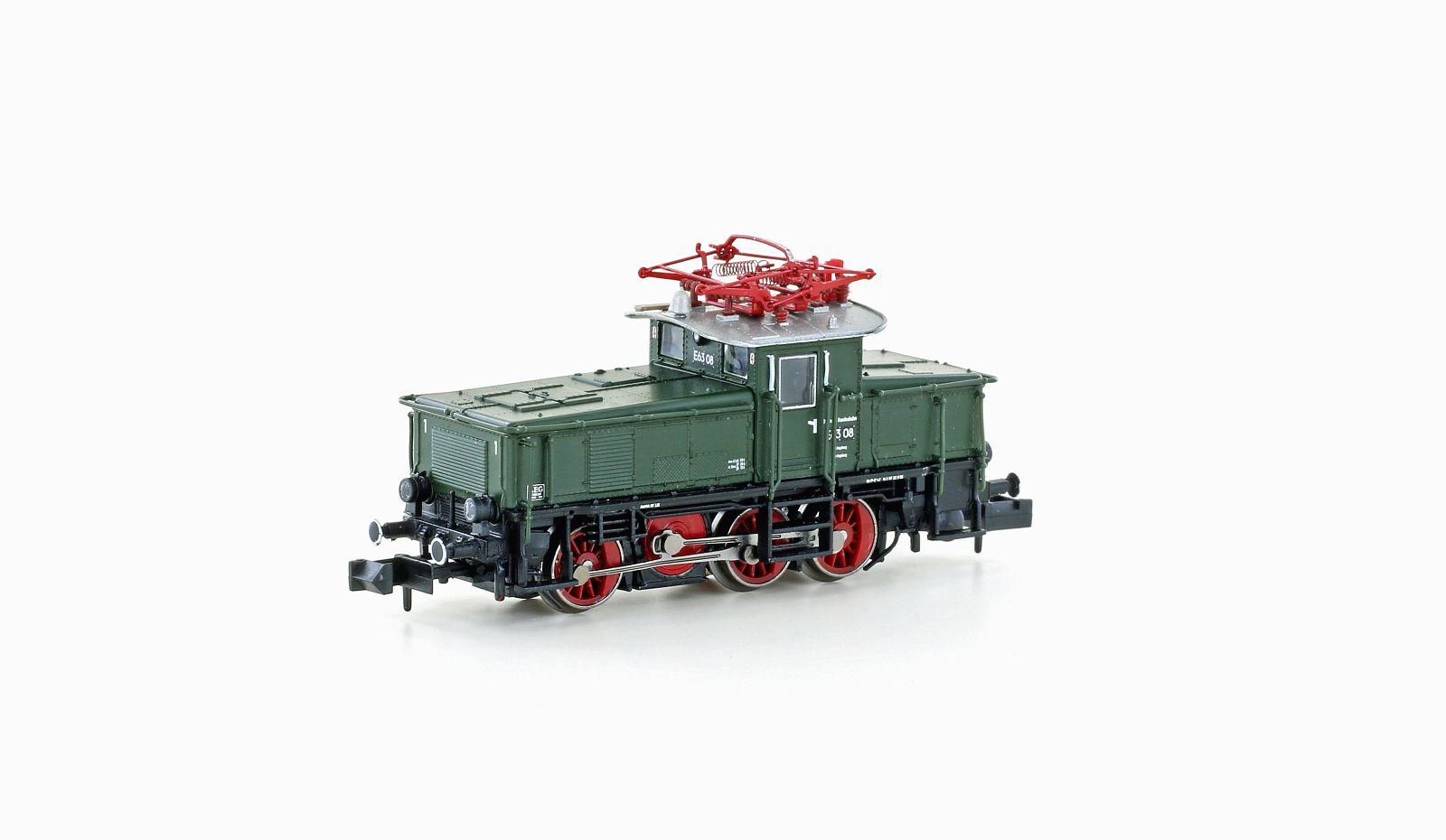 VO Hobbytrain 3051 Spur N Rangierlok E63 DB Ep.III grün  / rot