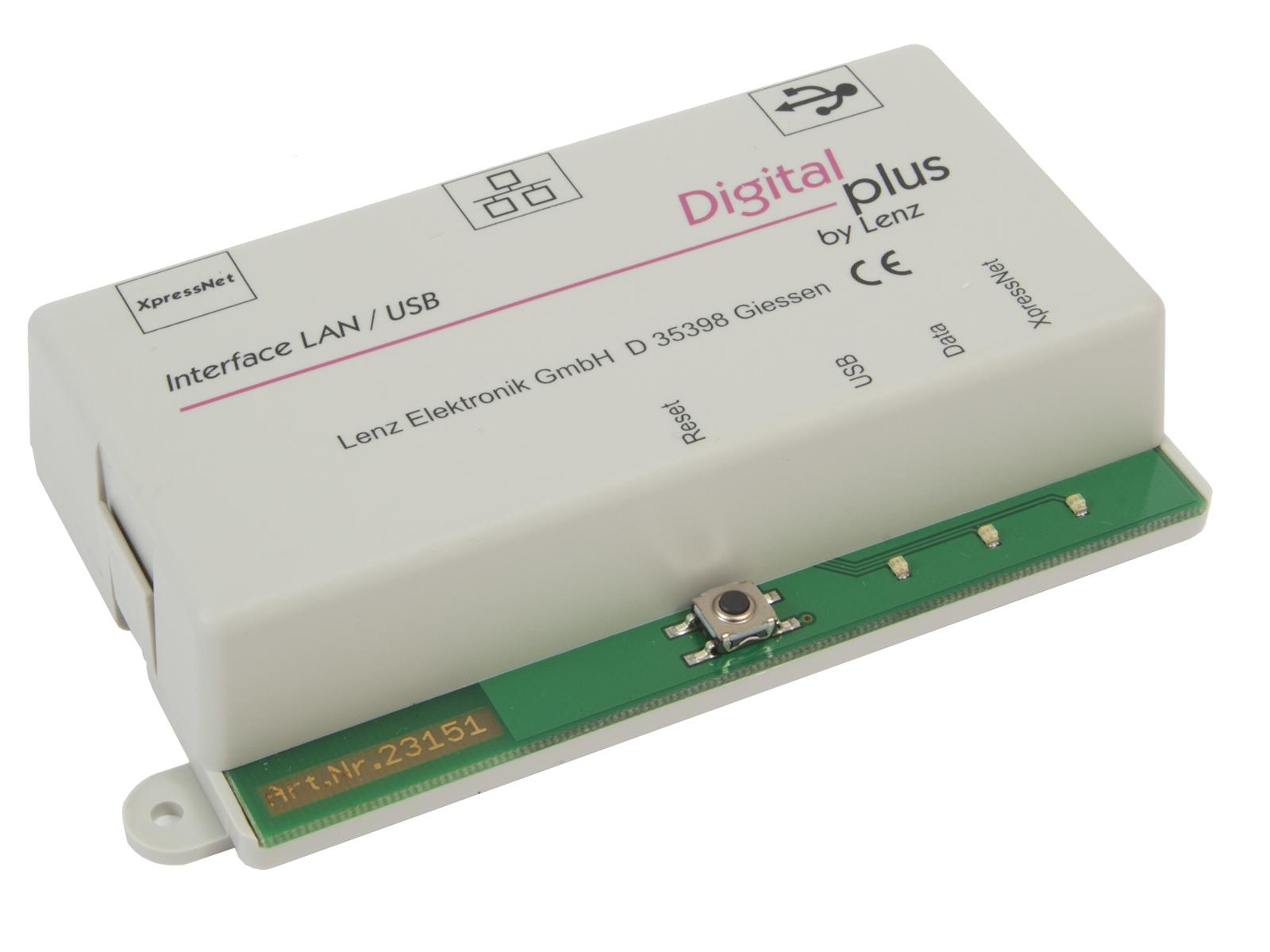 LENZ 23151 Interface USB Ethernet zum Anschluss an PC und/oder Router