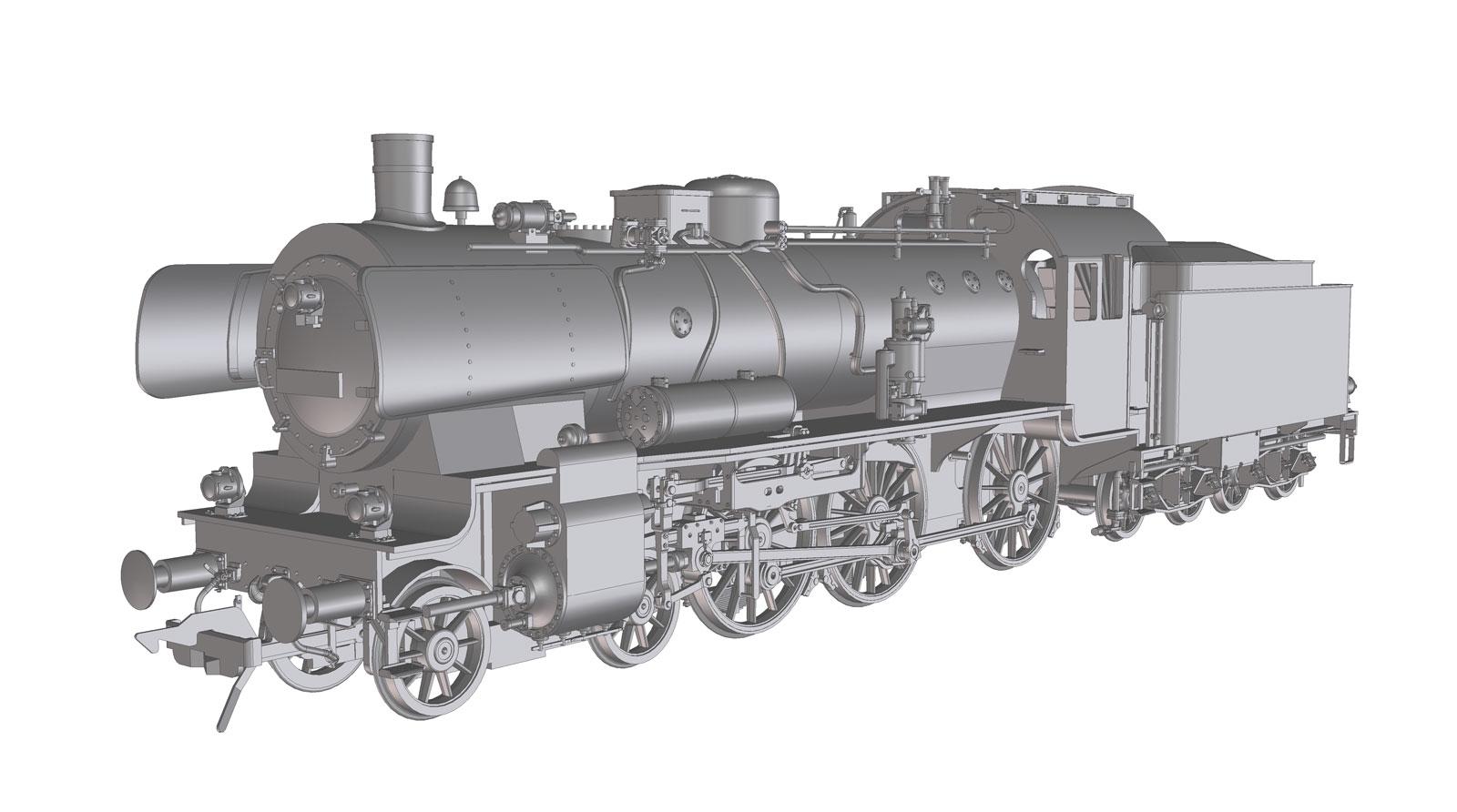 VO Lenz 40237-01 Spur 0 Dampflok BR38/P8 DB, mit Kastentender und Witte Windleit