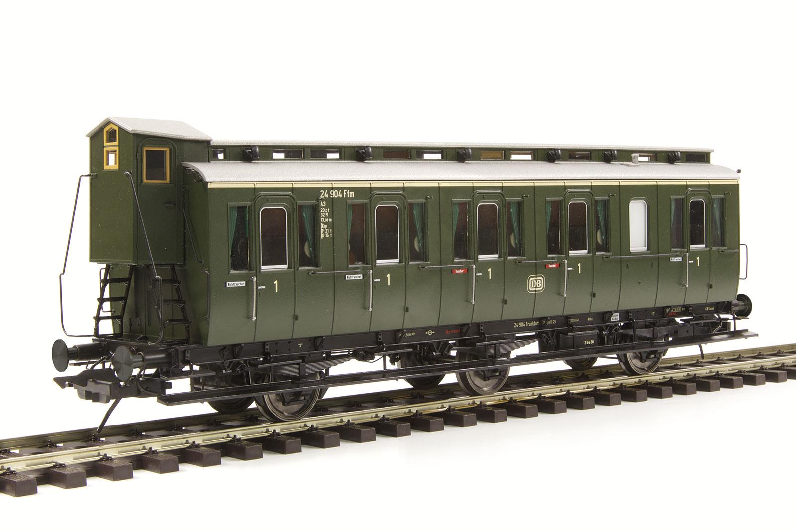 Lenz 41160-01 Spur 0 Preuß. Abteilwagen Bauart B3 m. Bremserh., DB