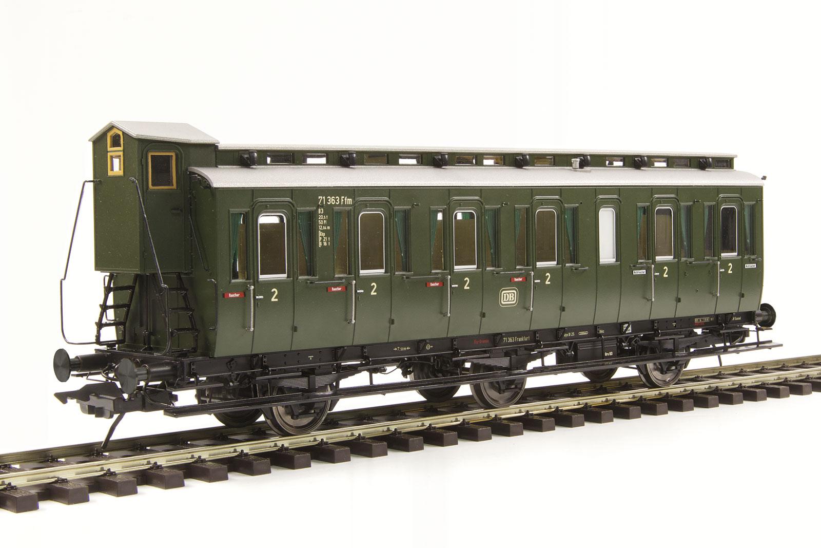 Lenz 41162-01 Spur 0 Preuß. Abteilwagen Bauart C3 m. Bremserh., DB EP III