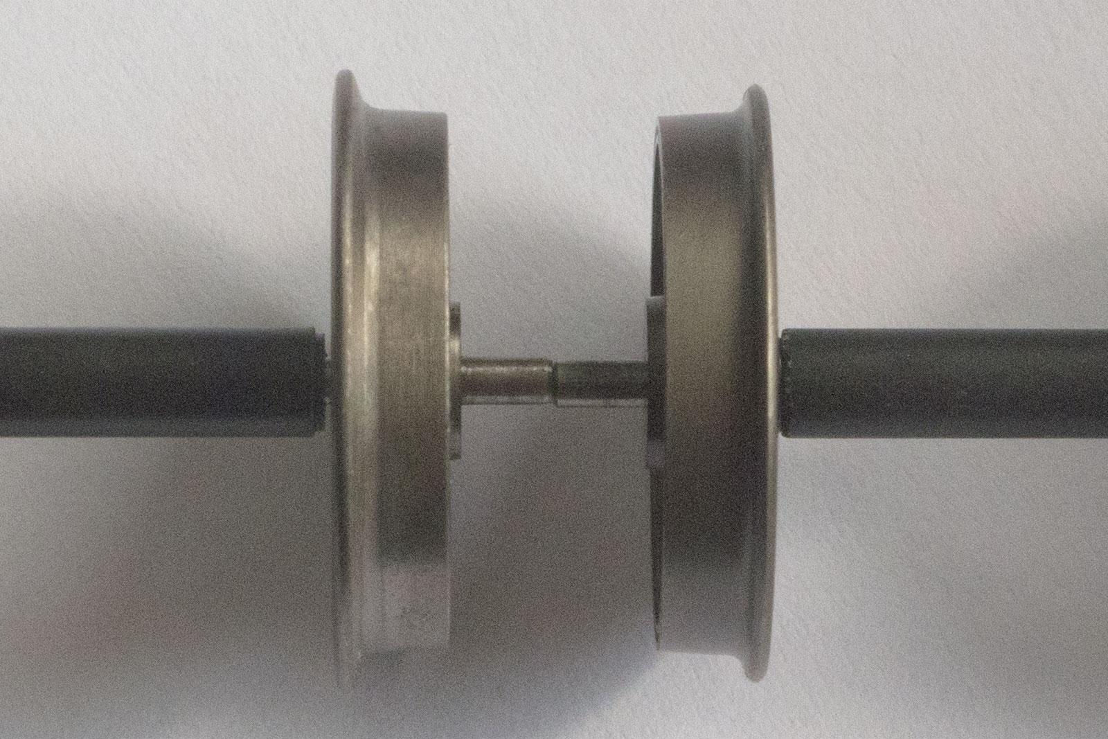 LENZ (1St.) Spur 0 49025 Radsatz, Dunkelbraun matt vernickelt