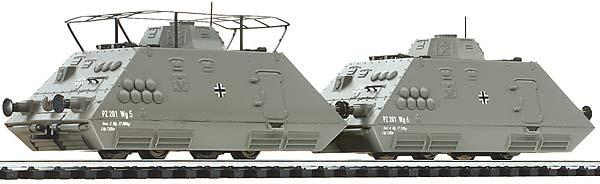 Liliput 136502 Panzerspähzug 3 mit Antrieb Wehrmacht EP II 2 tlg H0 DC