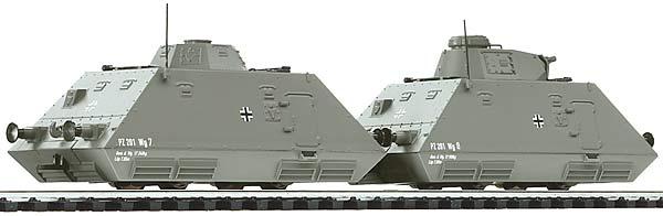 Liliput L 136508 Panzerspähzug 4 ohne Antrieb EP II Wehrmacht AC