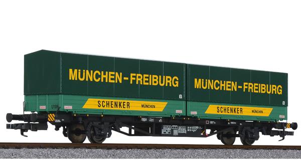 Liliput L 235220 H0 Containertragwagen Lgjs 571 Schenker DB, Ep. IV DC
