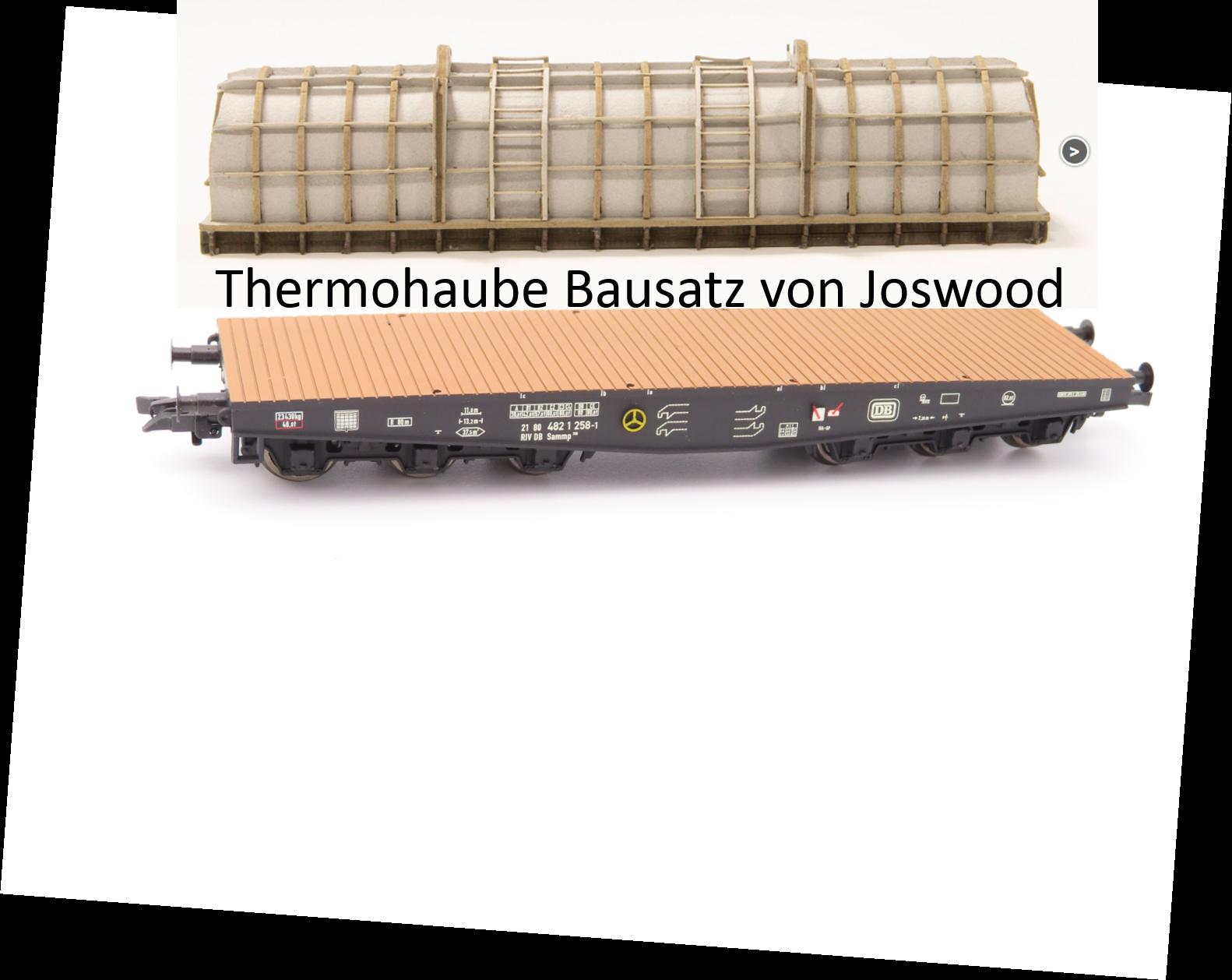 Liliput L 235740-1 H0 6-achs. Schwerlasttranspwg.+ Bausatz Thermohaube