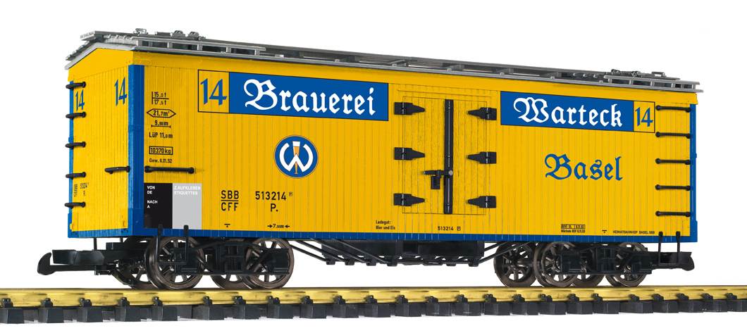 Liliput 95986 Spur G 4-achs. Bierwagen Brauerei Warteck, Basel