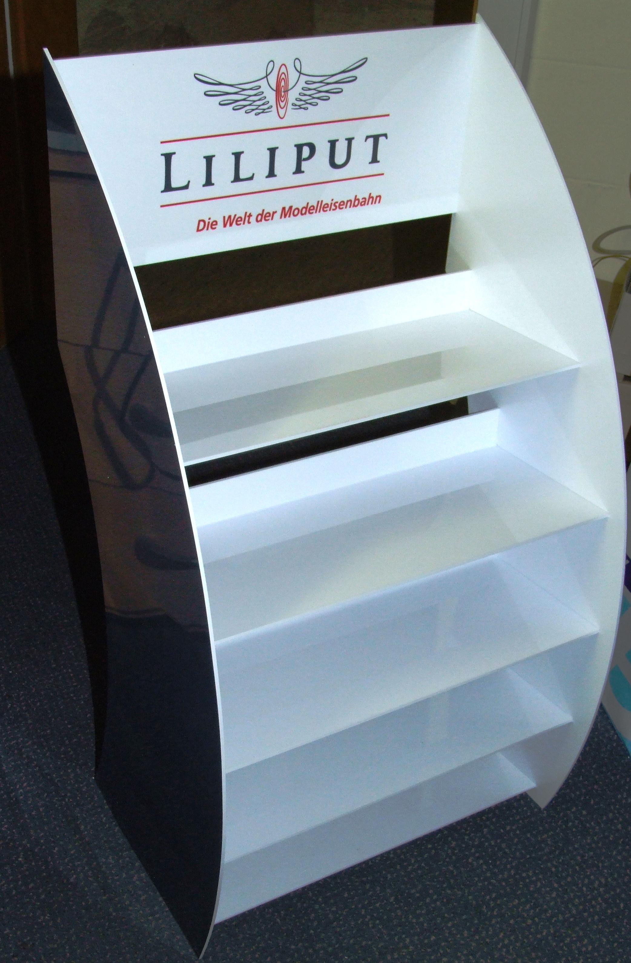 Liliput *K8* Aufsteller Händler Kunststoffvitrine 38 x 23 x 70 cm 5 Fächer