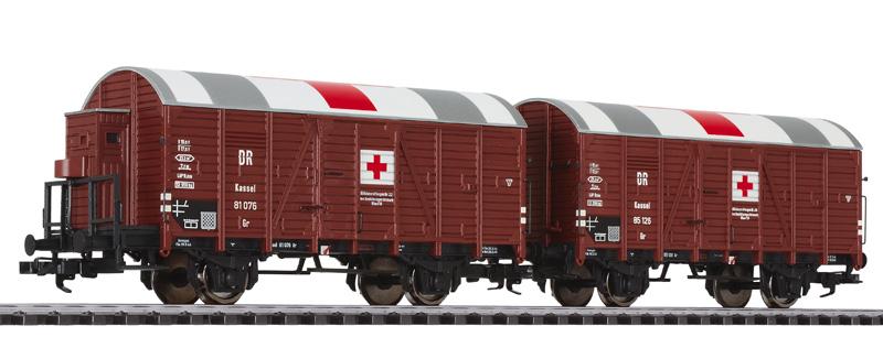 Liliput L 230136  Hilfs-Lazarettwagen-Set Kassel, DR, Ep.II