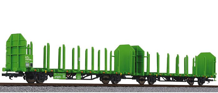 Liliput L 235240 H0 Rungenwagen-Einheit Laaps 565 für Holztransport, DB AG, Ep.VI DC