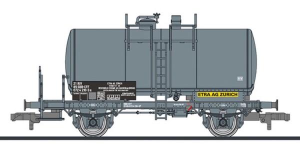 """Liliput L 235360 H0 Kesselwagen, SBB-CFF, """"ETRA AG ZÜRICH"""", 267 hl Tank, grau, Ep.IV"""