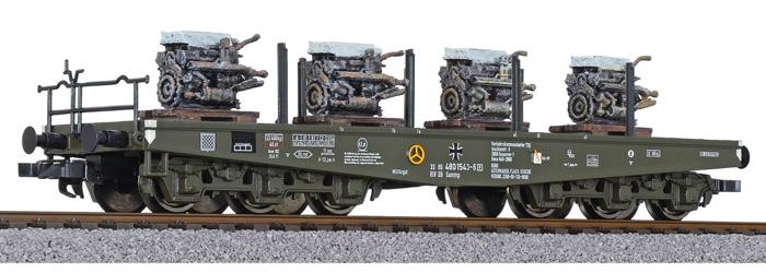 Liliput L 235742 H0 6-achs. Sch Bundeswehr, Ep.IV, Ladung Panzermotoren