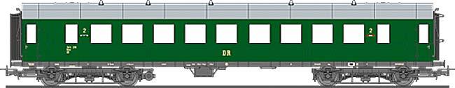 Liliput HO L 334544 Schnellzugwagen DR 2.Kl EP III
