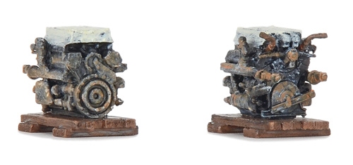 Liliput L 937400 Ladegut Maybach Panzermotor H0 ( Inhalt 6 Stück )