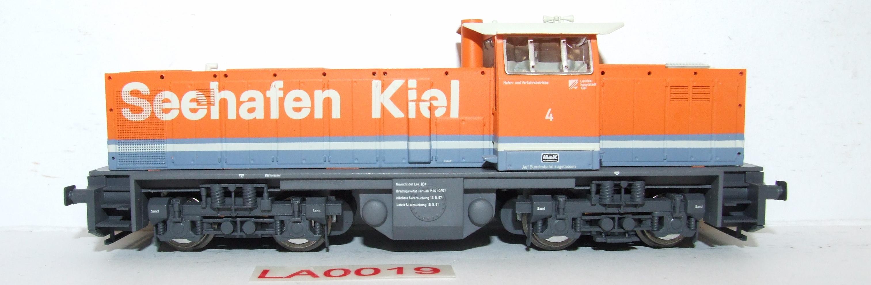 LA0019 Liliput H0 L 112410 Diesellok MAK Seehafen Kiel DC in OVP