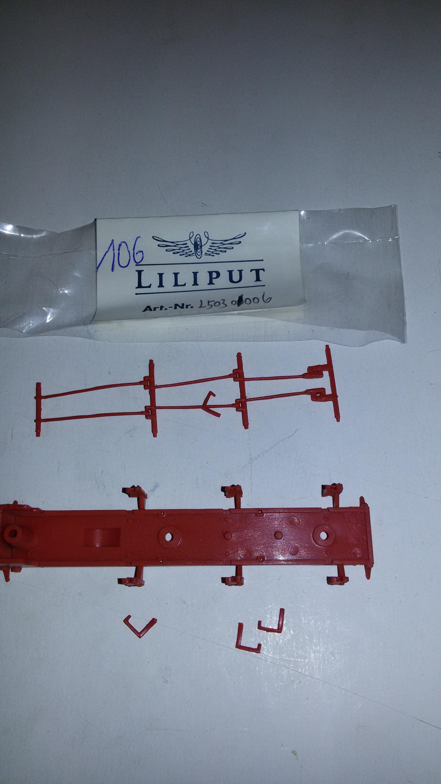 *LO 106* Liliput Ersatzteil L50301006 Rahmenabdeckung, unten L103010