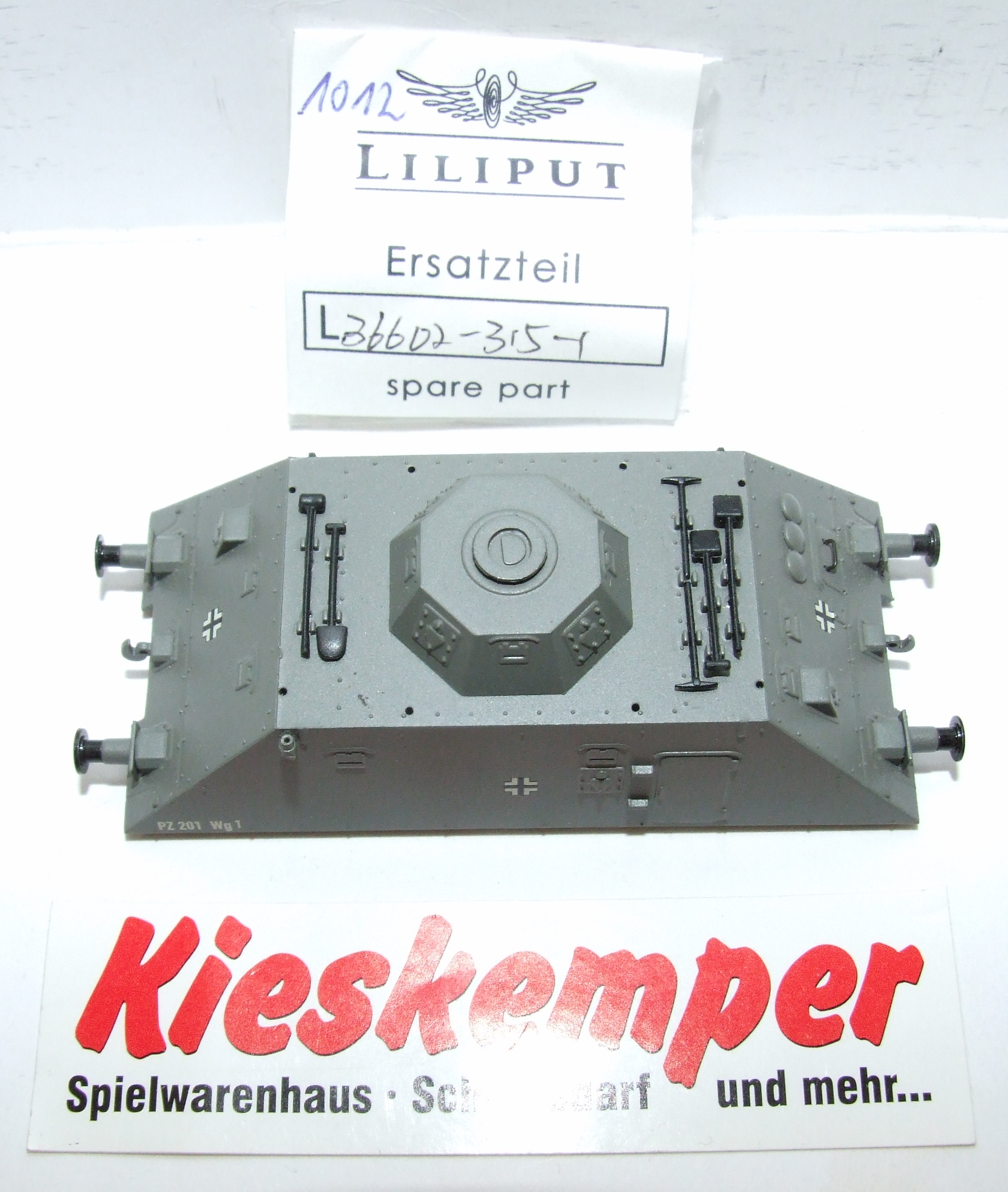 LO1012 Liliput H0 L 366023151 Gehäuse PZ 201 Wg1 Ersatzteil für Panzer Zug Wehrmacht