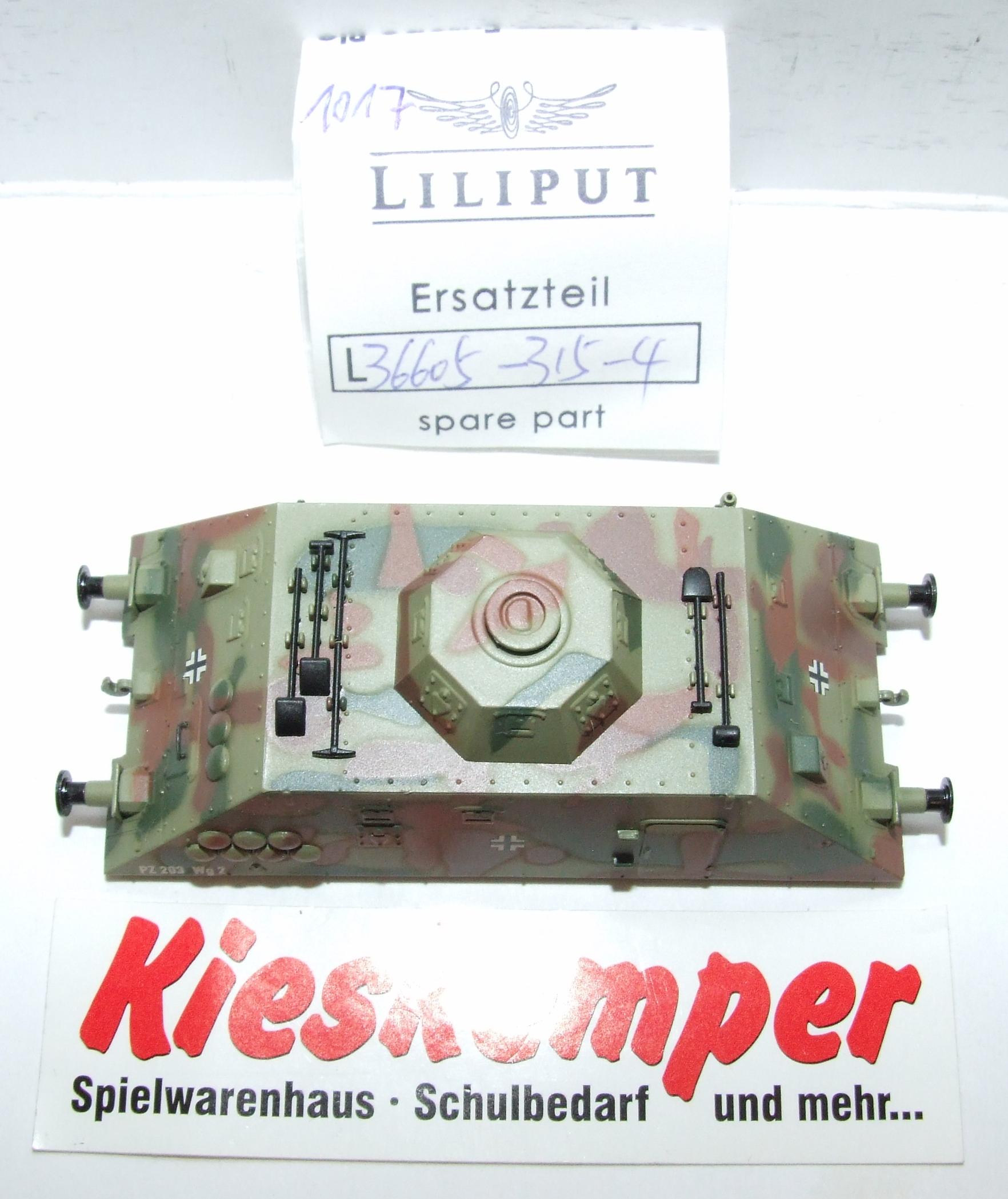 LO1017 Liliput H0 L 366053154 Gehäuse tarn PZ 203 Wg2 Ersatzteil für Panzer Zug Wehrmacht