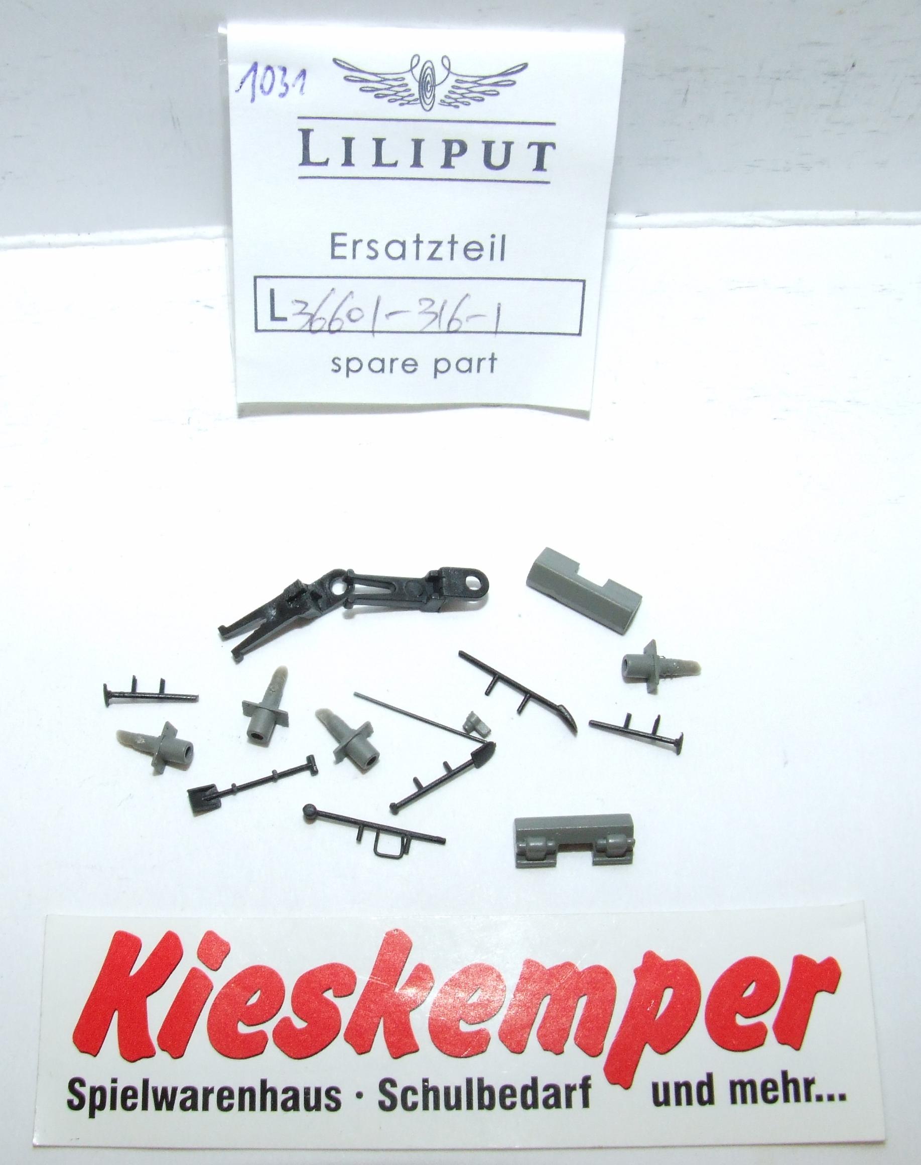 LO1031 Liliput H0 L 366013161 Gehäuse Aufsteckteile Ersatzteil für Panzer Zug Wehrmacht