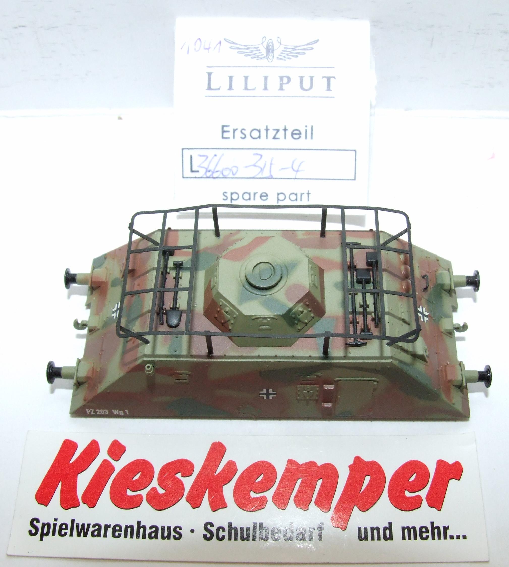 LO1041 Liliput H0 L 366003154 Gehäuse tarnfarben PZ 203 Wg1 Ersatzteil für Panzer Zug Wehrmacht