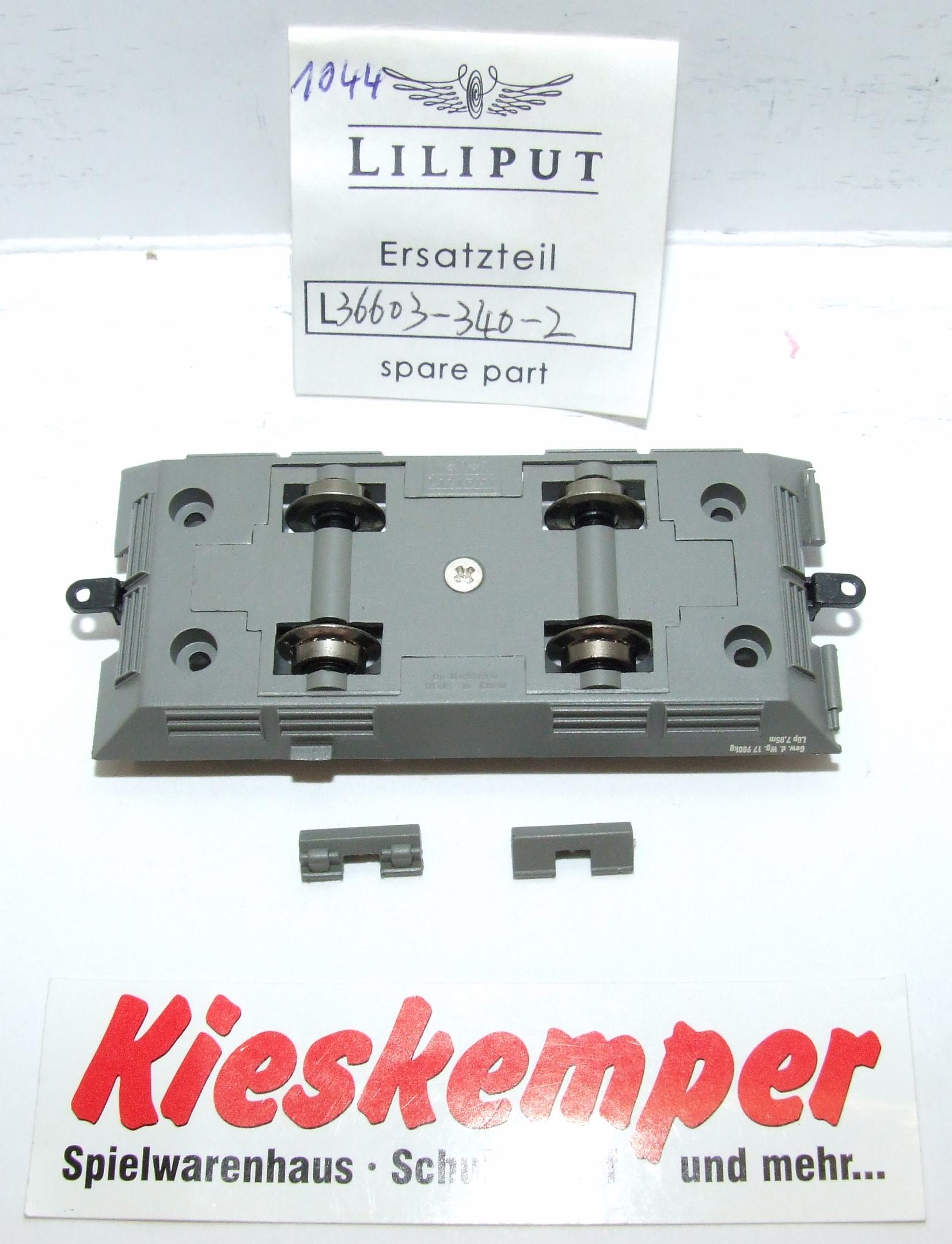 LO1044 Liliput H0 L 366033402 Fahrgestell grau DC Ersatzteil für Panzer Zug Wehrmacht
