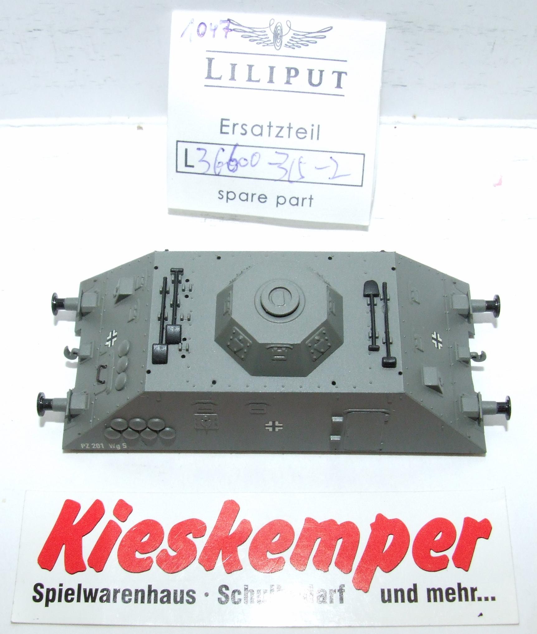 LO1047 Liliput H0 L 366003152 Gehäuse grau PZ 201 Wg5 Ersatzteil für Panzer Zug Wehrmacht
