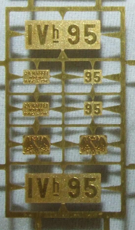 *LO 998* Liliput Ätzschildersatz Betriebs Nr Badische IV h 95 zu 104010