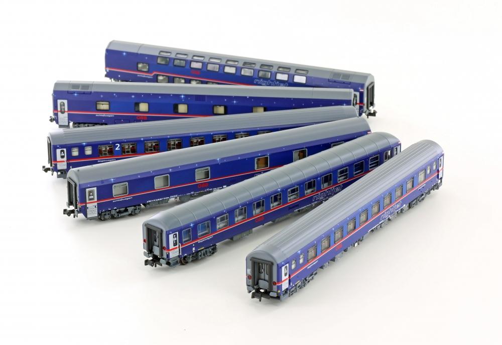 LS Models 97021 Spur N 6tlg. Set NIGHTJET EN470 Zürich-Hamburg ÖBB Ep.VI