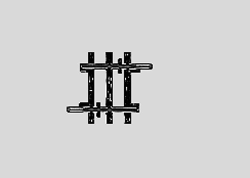 Märklin 2204 Gleis ger. 22,5 mm