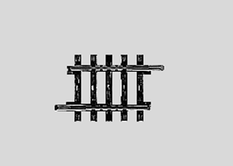 Märklin 2208 Gleis ger. 35,1 mm