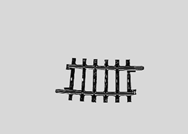 Märklin 2224 Gleis geb. r360 mm,7 Gr.30'