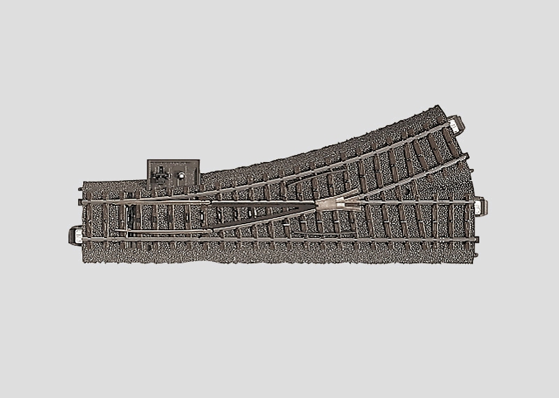 Märklin 24611 Weiche links r437,5 mm,24,3
