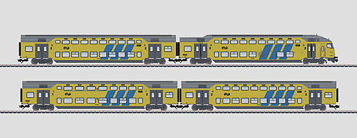 VO Märklin 43598 H0 Doppelstockwagen-Set NS