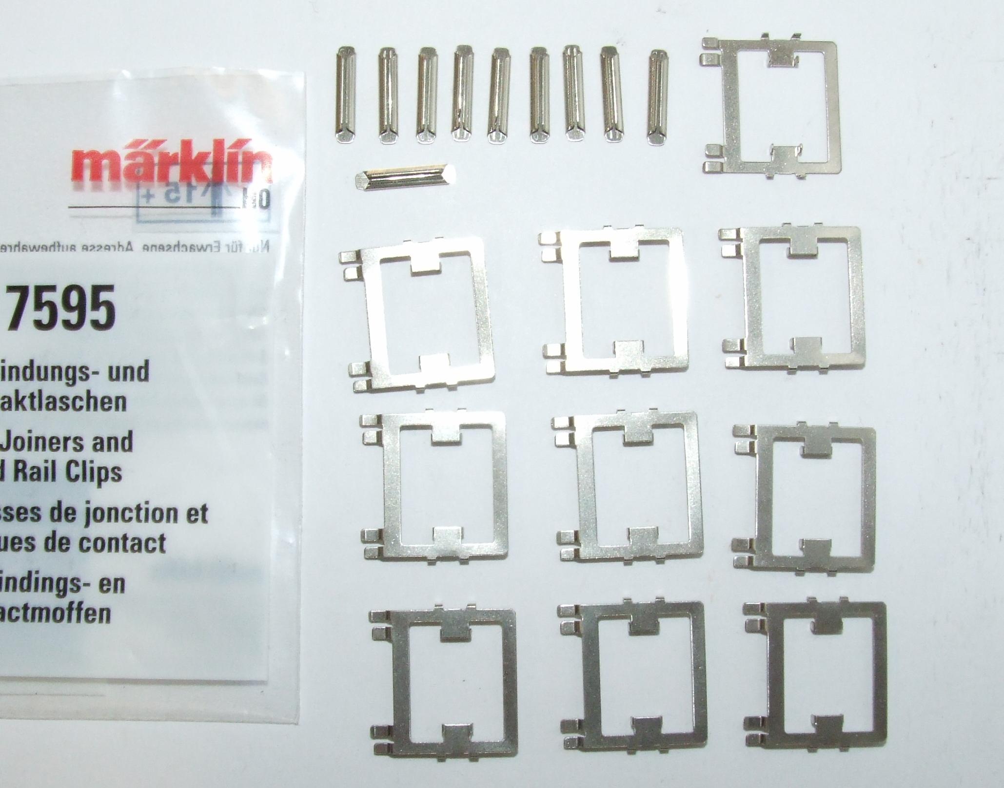 Märklin 7595 Verbindungs- und Kontaktlaschen 1VPE = 10 Stck.