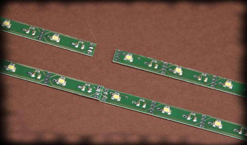 11034 Verlängerung der Standard Lichtleiste sunny gelb 9 LED´s für Spur 0 oder 1