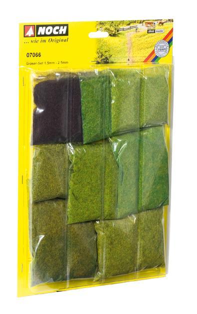 NOCH 07066 Gräser Profi Set für Grasmaster 1,5 mm und 2,5 mm