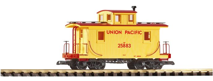 PIKO-38830-G-Scale-US-Freight-Car-Armour-Yellow-Brown-Roof-UP