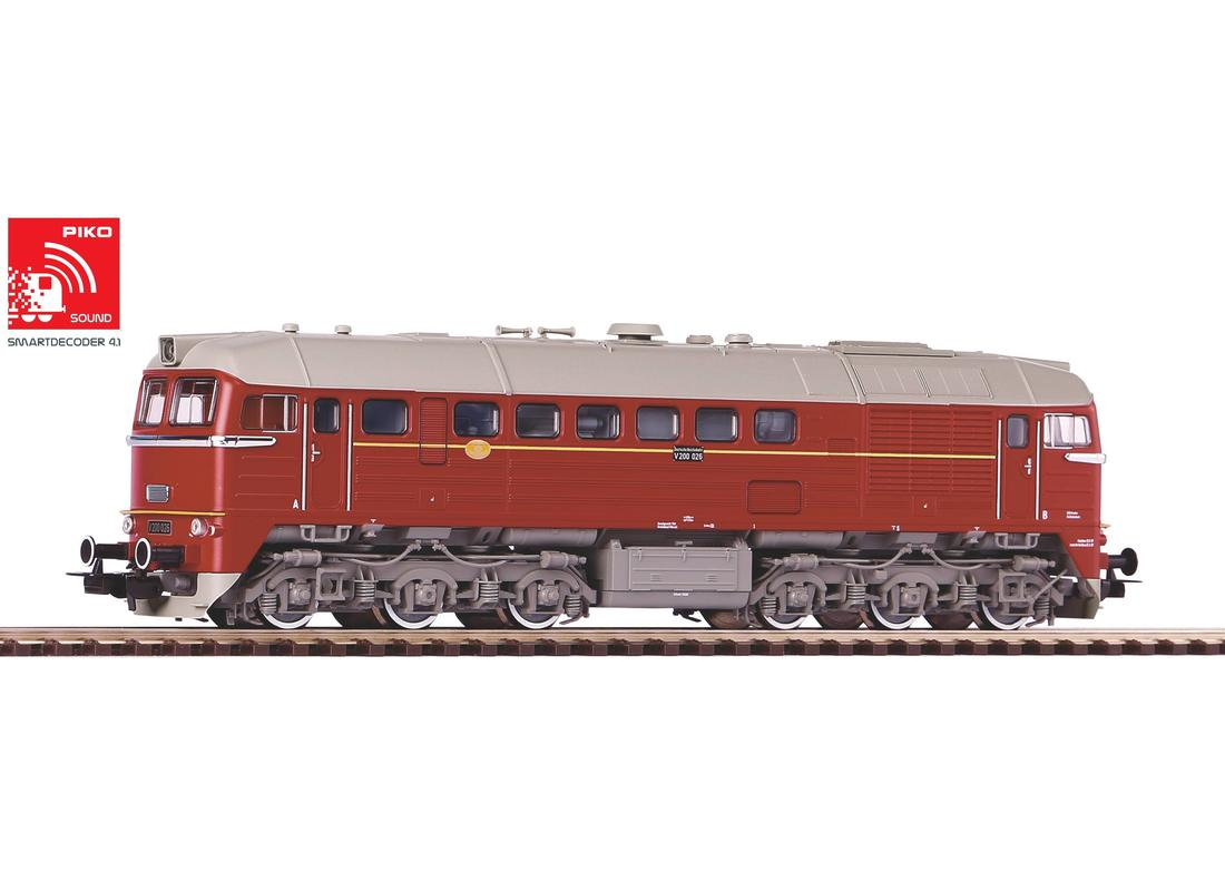 PIKO 52802 Spur H0 Diesellok/Soundlok BR V200 DR III + DSS PluX22