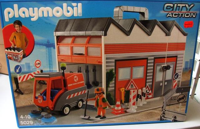 Playmobil baukoffer mit kehrmaschine
