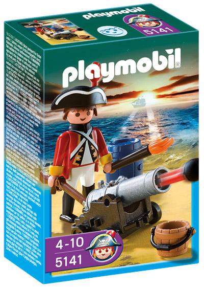 PLAYMOBIL ® 5141 Rotrock Offizier mit Kanone