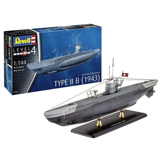 Revell 05155 Bausatz Deutsches U-Boot Typ IIB WK II 1:144