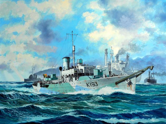 Revell 05158 Bausatz Flower Class Corvette HMS BUTTERCUP 1:144