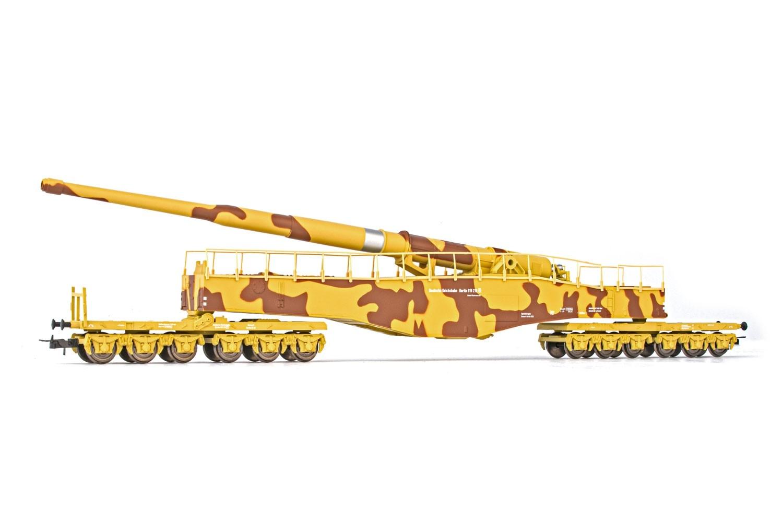 Rivarossi HR 6452 H0 Eisenbahngeschütz K5 tarn DR EP II DC