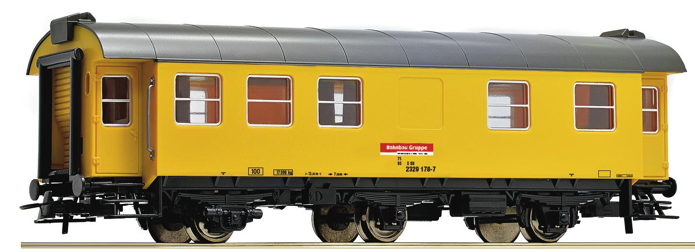 Roco 54294 3a. Bauzugwagen gelb, DB AG DC EP VI